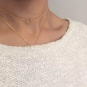 Jewelry - mini gold circle chocker